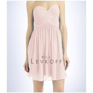Bill Levkoff Strapless Dress, # 718 - Petal Pink
